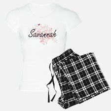 Savannah Georgia City Artis Pajamas