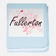 Fullerton California City Artistic de baby blanket