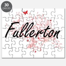 Fullerton California City Artistic design w Puzzle