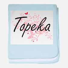 Topeka Kansas City Artistic design wi baby blanket