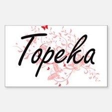 Topeka Kansas City Artistic design with bu Decal