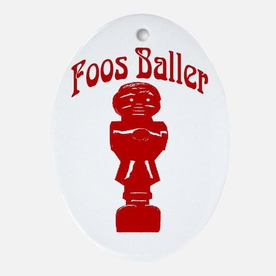 Foosballer Oval Ornament