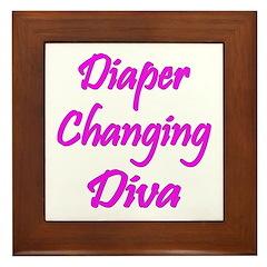Diaper Diva Framed Tile