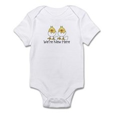 We're New Here Hatching Chick Onesie
