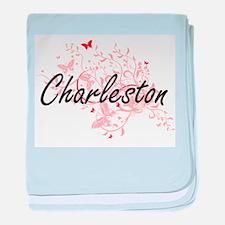 Charleston South Carolina City Artist baby blanket