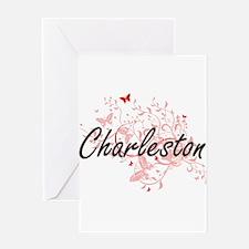 Charleston South Carolina City Arti Greeting Cards