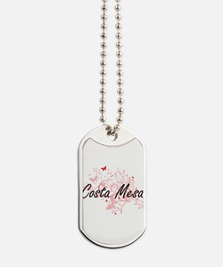Costa Mesa California City Artistic desig Dog Tags
