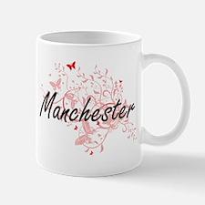 Manchester New Hampshire City Artistic design Mugs