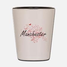Manchester New Hampshire City Artistic Shot Glass