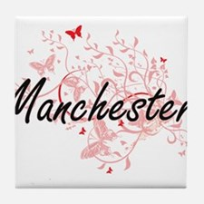 Manchester New Hampshire City Artisti Tile Coaster