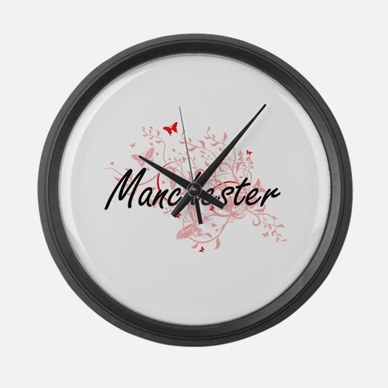 Manchester New Hampshire City Art Large Wall Clock