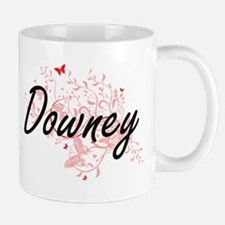 Downey California City Artistic design with b Mugs