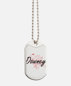 Downey California City Artistic design wi Dog Tags