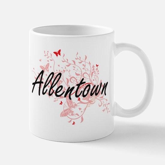 Allentown Pennsylvania City Artistic design w Mugs