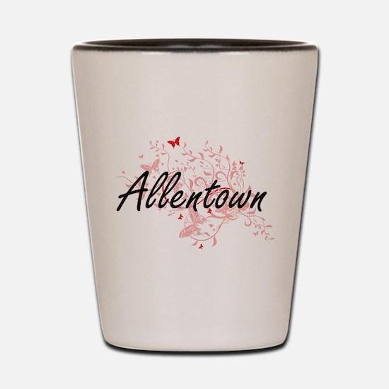 Allentown Pennsylvania City Artistic de Shot Glass