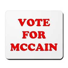Vote for McCain Mousepad