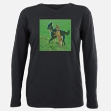 Comical Dogs Plus Size Long Sleeve Tee