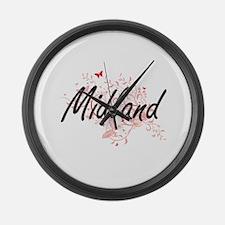 Midland Texas City Artistic desig Large Wall Clock