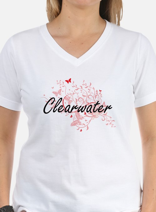 Clearwater Florida City Artistic design wi T-Shirt
