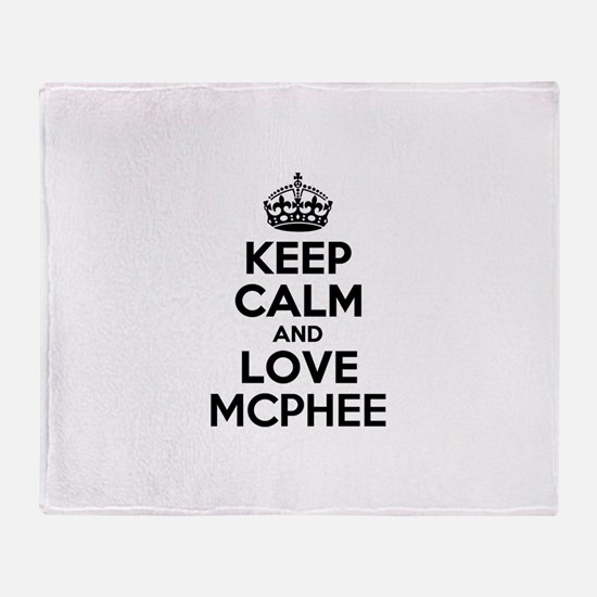Keep Calm and Love MCPHEE Throw Blanket