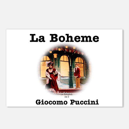 OPERA - LA BOHEME - GIOCO Postcards (Package of 8)