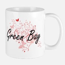 Green Bay Wisconsin City Artistic design with Mugs