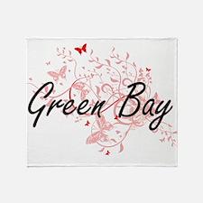 Green Bay Wisconsin City Artistic de Throw Blanket