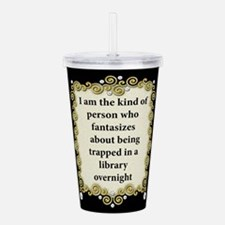 Trapped in the Library Acrylic Double-wall Tumbler