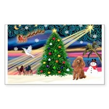 XmasMagic/Toy Poodle (A) Rectangle Decal