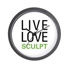 Live Love Sculpt Wall Clock