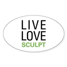 Live Love Sculpt Oval Decal