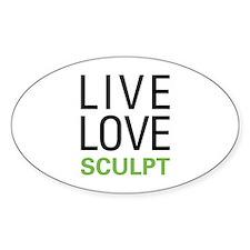Live Love Sculpt Oval Decal