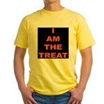 I AM THE TREAT (BLK) Yellow T-Shirt