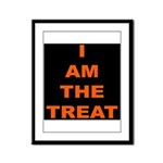 I AM THE TREAT (BLK) Framed Panel Print