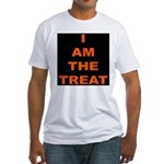 I AM THE TREAT (BLK) Fitted T-Shirt