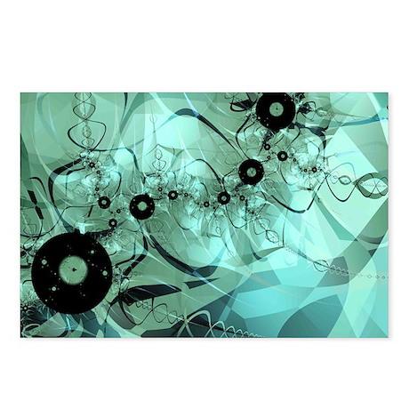 """Disco"" Fractal Art Postcards (Package of 8)"