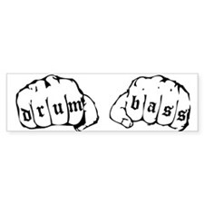 Drum & Bass Fists Bumper Car Sticker