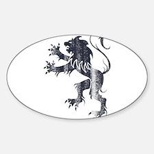 Lion roar Oval Decal