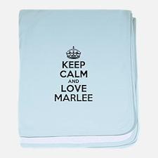 Keep Calm and Love MARLEE baby blanket