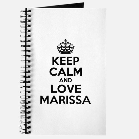 Keep Calm and Love MARISSA Journal