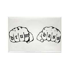 Drum & Bass Fists Rectangle Magnet (10 pack)