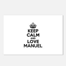 Keep Calm and Love MANUEL Postcards (Package of 8)