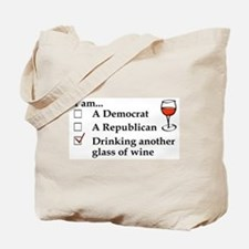 Cute Funny political Tote Bag