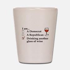 Cute Political humor Shot Glass