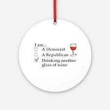Cute Political humor Round Ornament