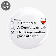 "Cute Political humor 3.5"" Button (10 pack)"