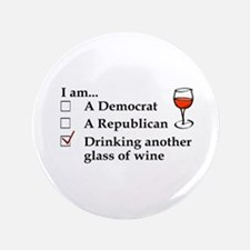 Cute Red wine Button