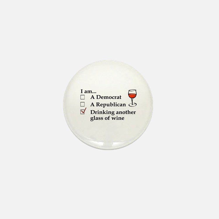 Cute Republican wine Mini Button