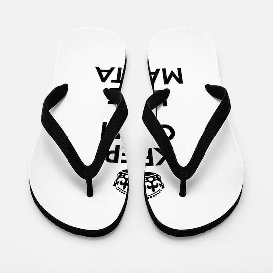 Keep Calm and Love MAMITA Flip Flops