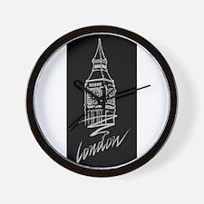 london foil black Wall Clock